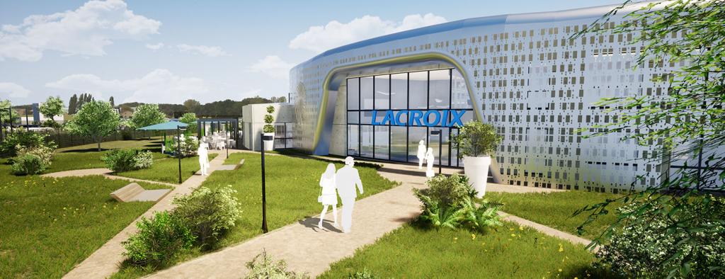 Maquette de l'industrie du futur Symbiose du Groupe Lacroix Electronics